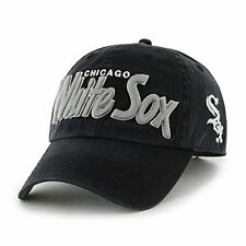 Chicago White Sox MLB Text Snapback Adjustable Twins '47 Brand Black Hat Cap Lid