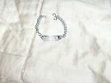 "NIRVANA Polished Plated Silver Charm Bracelet 7.5""  ""LOOK"" UNISEX NEW."