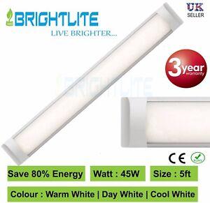 LED BATTEN SLIMLINE TUBE LIGHT WALL AND CEILING MOUNT 5ft 1500mm 45 WATT 6000K