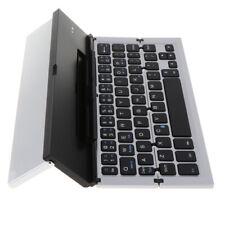 Aluminum Wireless Triple Folding Bluetooth Keyboard For Tablet Silver