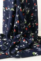"Gorgeous True Vintage Silky Soft 1940s-50s Bemberg Rayon Midnight Blue 40"" x 4yd"