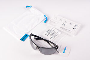 Alpina Draff Black Cycling Glasses Black Lens Sports Goggles Running Racing