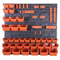 40 teiliges SET Lagersichtboxenwand Stapelboxen mit Montagewand Werkzeugwand