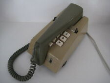 RARE VINTAGE PUSHBUTTON TWO TONE GREEN TRIMPHONE WORKING RETRO MODERNIST