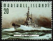 "USS IOWA (BB-61) ""The Big Stick"" Battleship Warship Stamp (1997)"