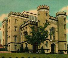 Baton Rouge Louisiana LA Old State Capitol Vtg Linen Postcard