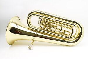 Yamaha YBB-105 Bb 3/4 Size Yellow Brass Standard Tuba with Hard Case