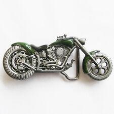Moto Biker Boucle de Ceinture Vintage Rocker Rider 141 Vert