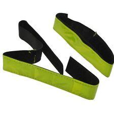 2x Reflektorstreifen neon-gelb Reflex-Band Armband Klettverschluß Joggen B-Ware