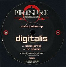 "DIGITALIS SOMA JUNKIES EP 12"" 1998 Matsuri Shakta Kaya Project Psytrance Goa"