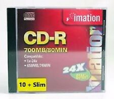 Imation CD-R 700MB/80 Min 16X (CD, One Disc Only!!!) - Ships within 12 hours!!!
