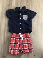 Carters Healthtex - Baby Boys Set Size 18 Months Shorts And Shirt  Lot Of 2