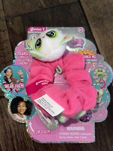 Scrunchmiez Series 1 Collectible Pookie Cat #22 Pink Scrunchy Hair Clip NWT Toy