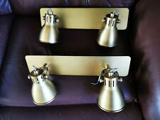 Pair DAR Lighting IDAHO 2 light Bar Spot GU10 Natural Brass wall lights - NEW
