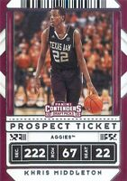 Khris Middleton 2020-21 Contenders Draft Picks Prospect Ticket Variation Card 30