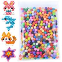 2400pcs Aqua Beads Glitzer Basteln Kinder Bastelset Glitzerperlen Perlen DE