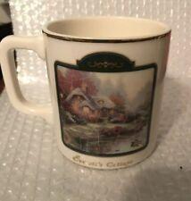 Thomas Kinkade~ 'Painter of Light'~ Coffee Cup Mug Moonlight Cottage~ Gold Trim