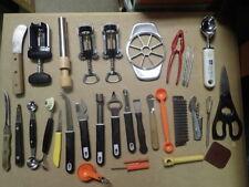 Gentil Large Lot Of 30 Vintage Kitchen Gadgets U0026 Garnishing Tools And Corkscrews