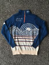 Dutch Bros Pullover Zip Sweater - Blue Men's Size S Small - New