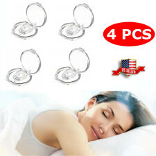 4 Pcs Nose Snore Stopper Clip Clipple Silicone Magnetic Snoring Sleeping Aid