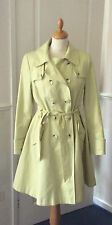 PLANÈTE... CHARTREUSE JAUNE MAC / TRENCH COAT... UK TAILLE 12 EUR 38... Excellente