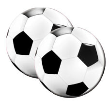 FOOTBALL ROUND SHAPED PAPER PARTY NAPKINS X 20