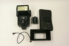 Vivitar 283 electronic flash w/AA holder, filter adapter, wide filters & PC cord