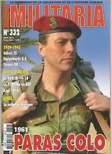MILITARIA N°332 1961 PARAS COLO / SABRES CC / 409e RI 14-18 / SOLDAT BRITANNIQUE