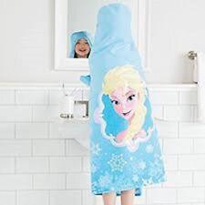 Toalla con Capucha para Niñas Baño Playa Piscina la temática de Frozen de Disney