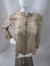 EQUIPMENT FEMME Brown Snake Skin Print Silk Blouse Size XS