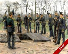 NETHERLANDS MILITARY FUNERAL PAINTING DUTCH WAR HISTORY ART REAL CANVAS PRINT