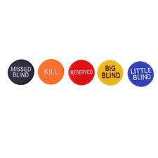5 Stück Doppelseitig Poker Button, Dealer/ Big Blind / Small Blind /