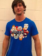 MAROON 5 Blue 100% Cotton Size L T-Shirt