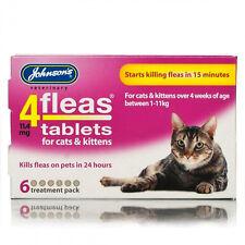 Johnsons 4fleas Tabletas Para Gato & Gatito Comienza MATAR A en 15min 6