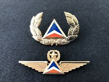 Authentic Vintage Delta Airlines Captain Pilot Wings And Hat Emblem.