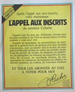 CHARLIE HEBDO N° 529 de DÉCEMBRE 1980 APPEL DU CANDIDAT COLUCHE AUX INSCRITS