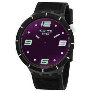 Swatch Futuristic Black Quartz Men's Watch SO27B119