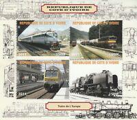 Block Eisenbahn Elfenbeinküste postfrisch 606