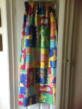 """Curtain for childs room bright colour 2 x 52""""wide x 52"""" long,gathered at the top"""