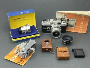 Argus C44R 35mm Rangefinder Camera with Cintagon 50mm and 35mm lens VIDEO