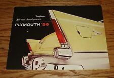 Original 1956 Plymouth Full Line Foldout Sales Brochure 56 Belvedere Savoy Plaza