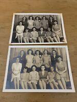 "Original Vintage Photograph 1950s Woman's Group Photo Black & White 5"" X 7"" (2)"