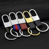 Leather Strap Copper Loop Key Chain Ring Keychain Keyring Men Keyfob Charm Gifts