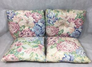 Grand Basket Company Seat Cushions Throw Pillows Floral Set of 4 Flowers Caldor