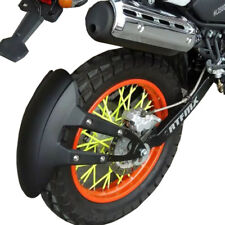 Black PVC Motorcycle Rear Wheel Cover Fender Splash Guard Mudguard Bracket Novel