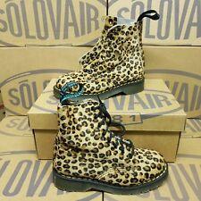 SOLOVAIR 8 Eye Derby Women's Boots Leopard UK 3 EUR 35 (pv:285£) *VINTAGE*