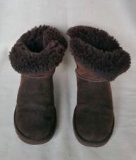 Ugg Australia Ladies Brown Suede Button Brown Boots UK 3.5, EU 36