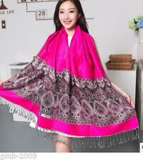 Womens Tassel Scarf Fashion Pashmina Long Scarves Office Shawl Wraps Print Stole