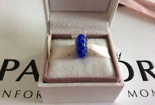 Pandora Solid 14ct Gold Murano Charm, Blue Lotus Design, SUPERB CONDITION