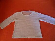 More & more schönes Shirt Bluse Tunika weiß 3/4 Arm Gr XL ca. 40 / 42